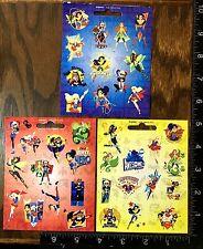 SUPER HERO GIRLS BY DC COMICS, 3 LITTLE SHEETS BEAUTIFUL STICKERS #GIRLS7