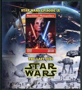 Madagascar-2018-MNH-Star-Wars-Last-Jedi-Rey-Kylo-Ren-Luke-Snoke-1v-M-S-Stamps