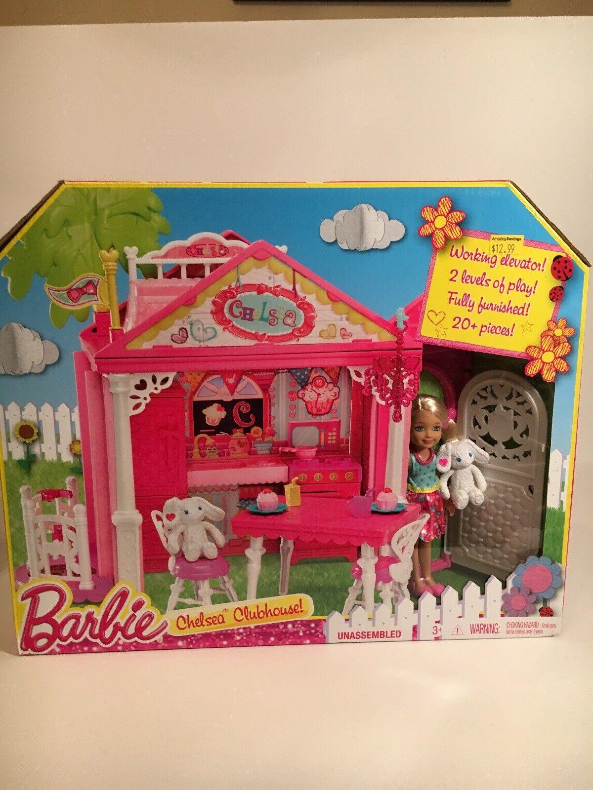 Barbie chelsea clubhaus - mattel 2013 - hersteller - feder abgebrochen