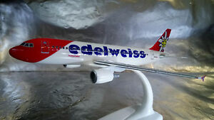 * Herpa Snapfit 610940 Edelweiss Air Airbus A320 Scale 1:200 Scale stand - Wroclaw, Polska - Zwroty są przyjmowane - Wroclaw, Polska
