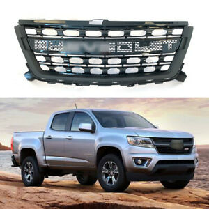 fit for2016-2020 chevrolet colorado front grille black w