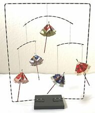 Japanese Tabletop Origami Artisan Washi Paper Umbrella Mobile Moving Sculpture