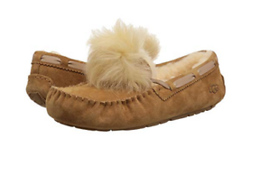 1f96a5a49ac NIB UGG Women s Dakota Pom Pom Sheepskin Slippers in Chestnut