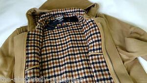 42 Sz Beige Coat Jacket Hooded Bnwt Duffle Aquascutum Uk Made Iqa084w
