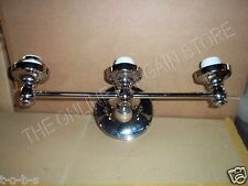 Item 1 Pottery Barn Brayden Triple Wall Bathroom Mirror Sconce Lamp Light Nickel Finish