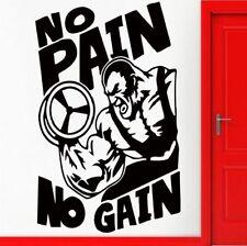 No Pain Bodybuilding Wandtattoo Wallpaper Wand Schmuck 56 x 88 cm Wandbild