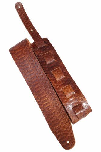 """3,5mm dickes Voll-Leder in 5 Farben Büffelleder Gitarrengurt /""""WB Snake/"""""""