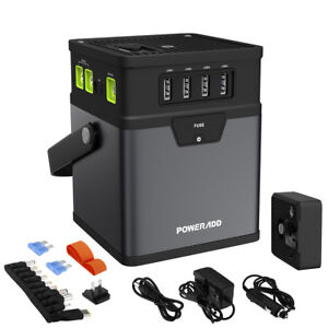 50000mAh-Multifunction-Power-Bank-DC-AC-Portable-Power-Inverter-AC-Car-Adapter