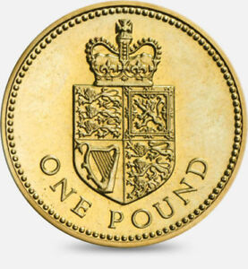 Image Is Loading 1988 Crowned Shield 1 One Pound Coin Great