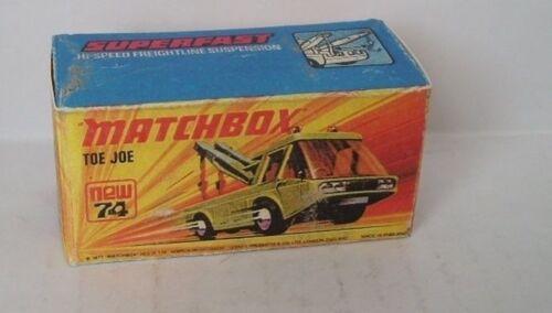 REPRO BOX MATCHBOX Superfast Nº 74 TOE JOE