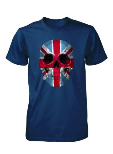 BNWT LONDON SKULL UNION JACK GREAT BRITAIN ENGLAND UK ADULT T SHIRT S-XXL