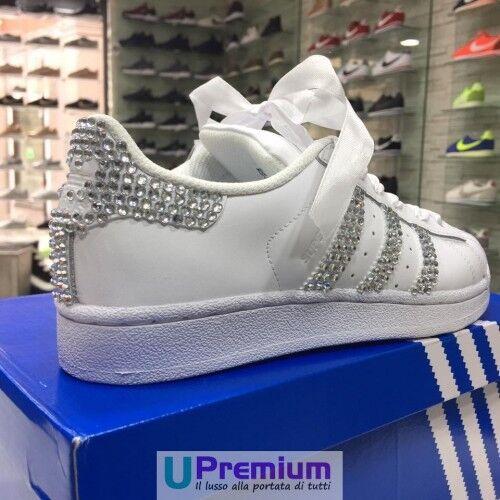 Scarpe Adidas Strass prodotto Customizzato Wedding Superstar Origina Swarovski S8xwqSr