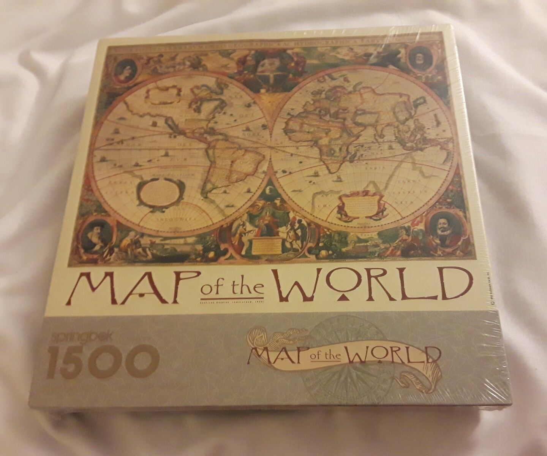 Springbok by Hallmark Map of the World 1500 Piece Puzzle