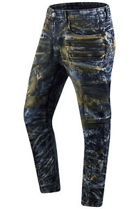 New-Men-Denim-Ripped-Premium-Cargo-Acid-Wash-Jeans-Slim-Fit-Zipper-Pocket-32-44