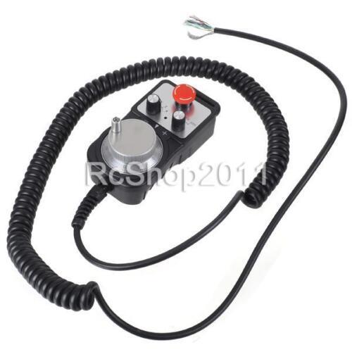 Universal CNC 4 Axis Pendant MPG Handwheel Emergency Stop Switch Controller GSK