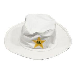 PAKISTAN CRICKET TEAM CAP PCB LOGO WHITE WIDE BRIM SUN FLOPPY TEST ... 4bcb3a8fa56