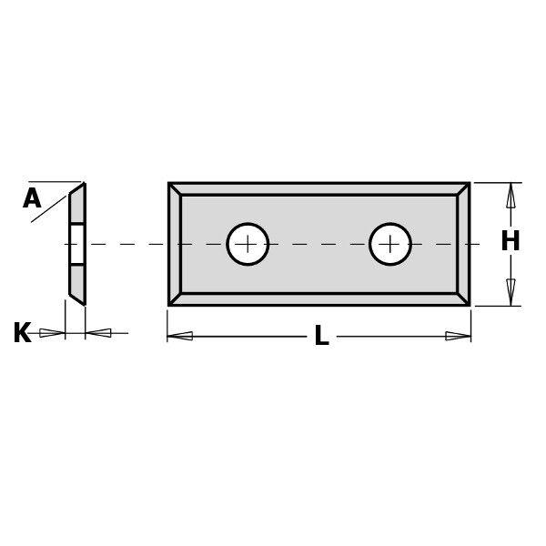 CMT Coltellini reversibili in HWM 4 taglienti 35°  (conf.10) cod.:790.09/12