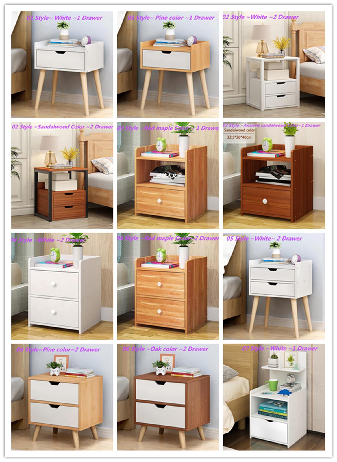 Christow Oak Effect 2 Drawer Bedside Table Bedroom Cabinet Nightstand H54cm