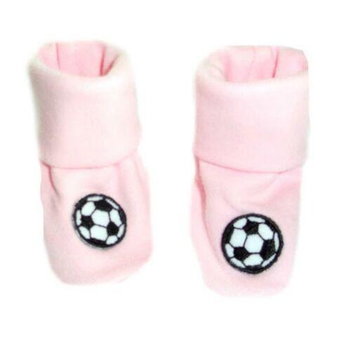 Crib Shoe Socks Baby Girl Pink Soccer Ball Booties 4 Preemie and Newborn Sizes