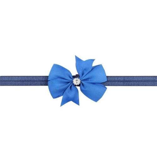 1 PCS Newborn Swallowtail Diamond Bow Elastic Hairbands Headwear Accessories