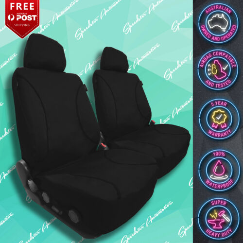 FOR FORD TERRITORY STRONG CANVAS ALL OVER WATERPROOF BLACK CAR FRONT SEAT COVERS