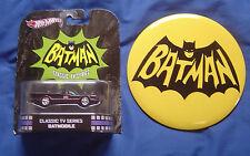 2012 Batmobile Hot Wheels & Large 6 Inch Batman Button