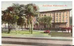 Undated-Unused-Postcard-Park-Hotel-Williamsport-Pennsylvania-PA