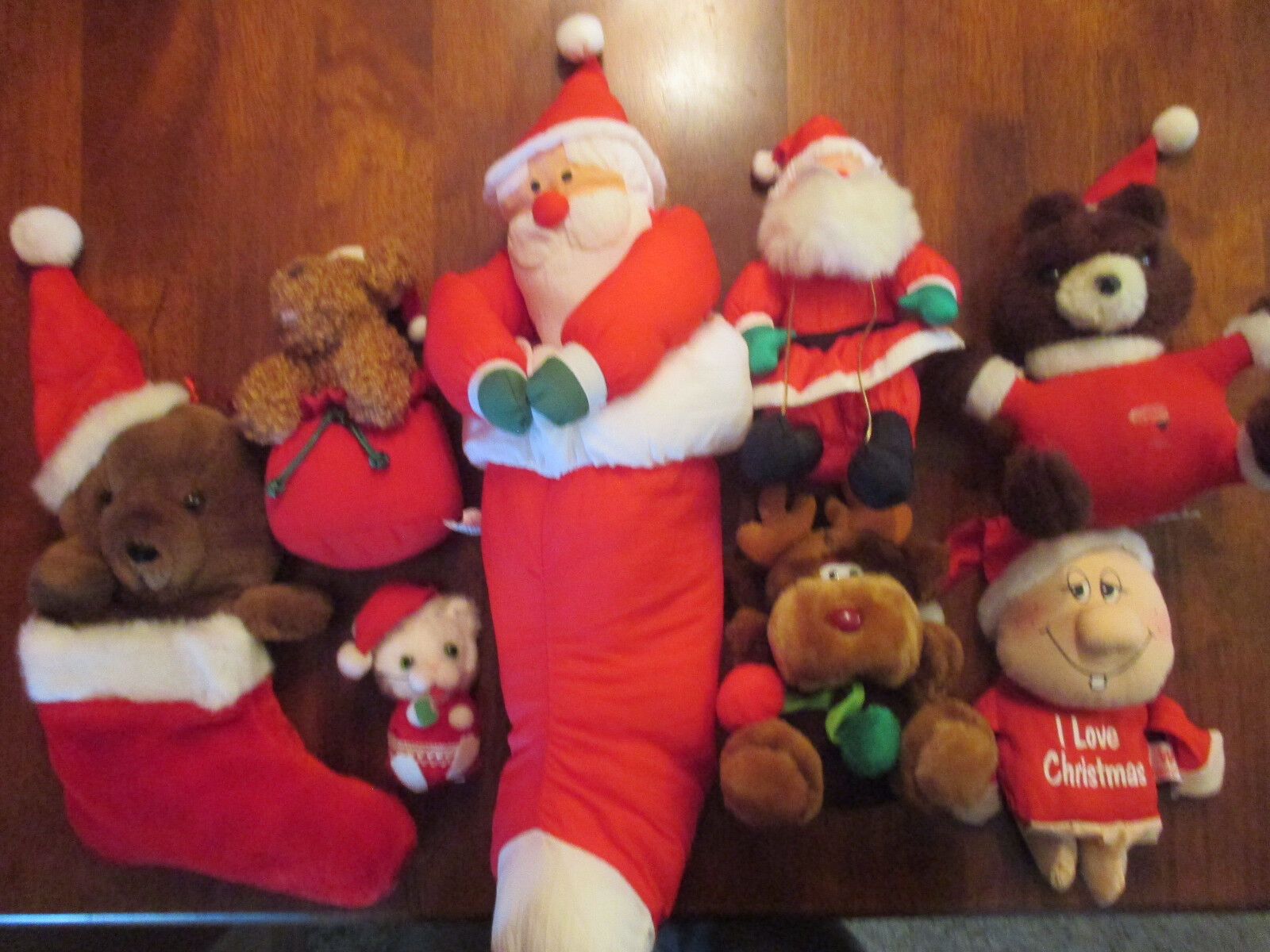 Soft and Cuddly Christmas Decorations. Stuffed Toys.