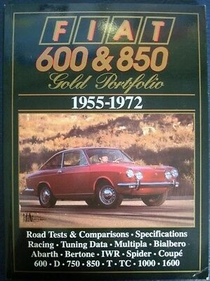 FIAT 600 & 850 GOLD PORTFOLIO 1955-1972 R M CLARKE CAR BOOK