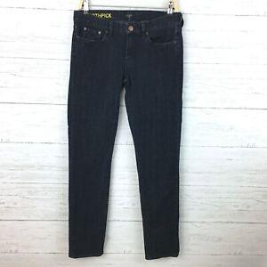 J-Crew-Women-039-s-Toothpick-Jeans-Dark-Wash-Skinny-Jeans-Straight-Leg-size-28-x-33