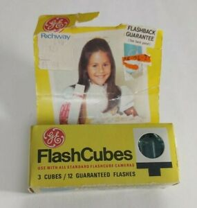 Vintage GE Flash Cubes New Open Box
