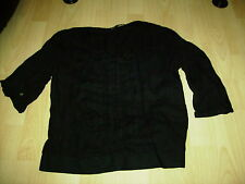 NEXT size 14 womens black bow frilly top blouse lovely VGC!!