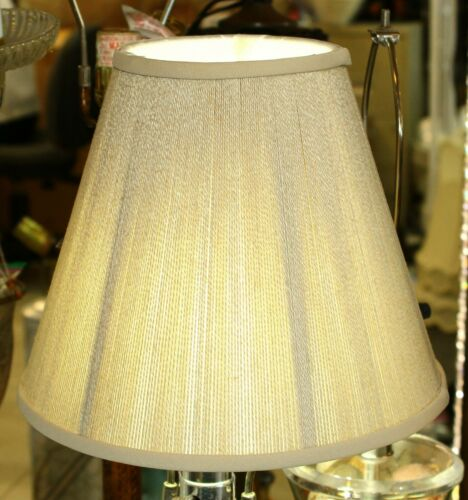 """Price is for a Pair Beige Silk String Soft Back 5/"""" x 10/"""" x 8 1//2/"""" Shade"""