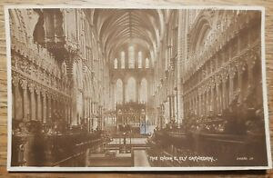 The Choir E, Ely Cathedral postcard. Valentine's series. Posted 1924