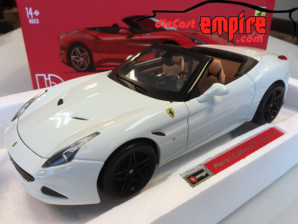 Bburago Signature 1 18 - Ferrari California T (open top) White 18-16904