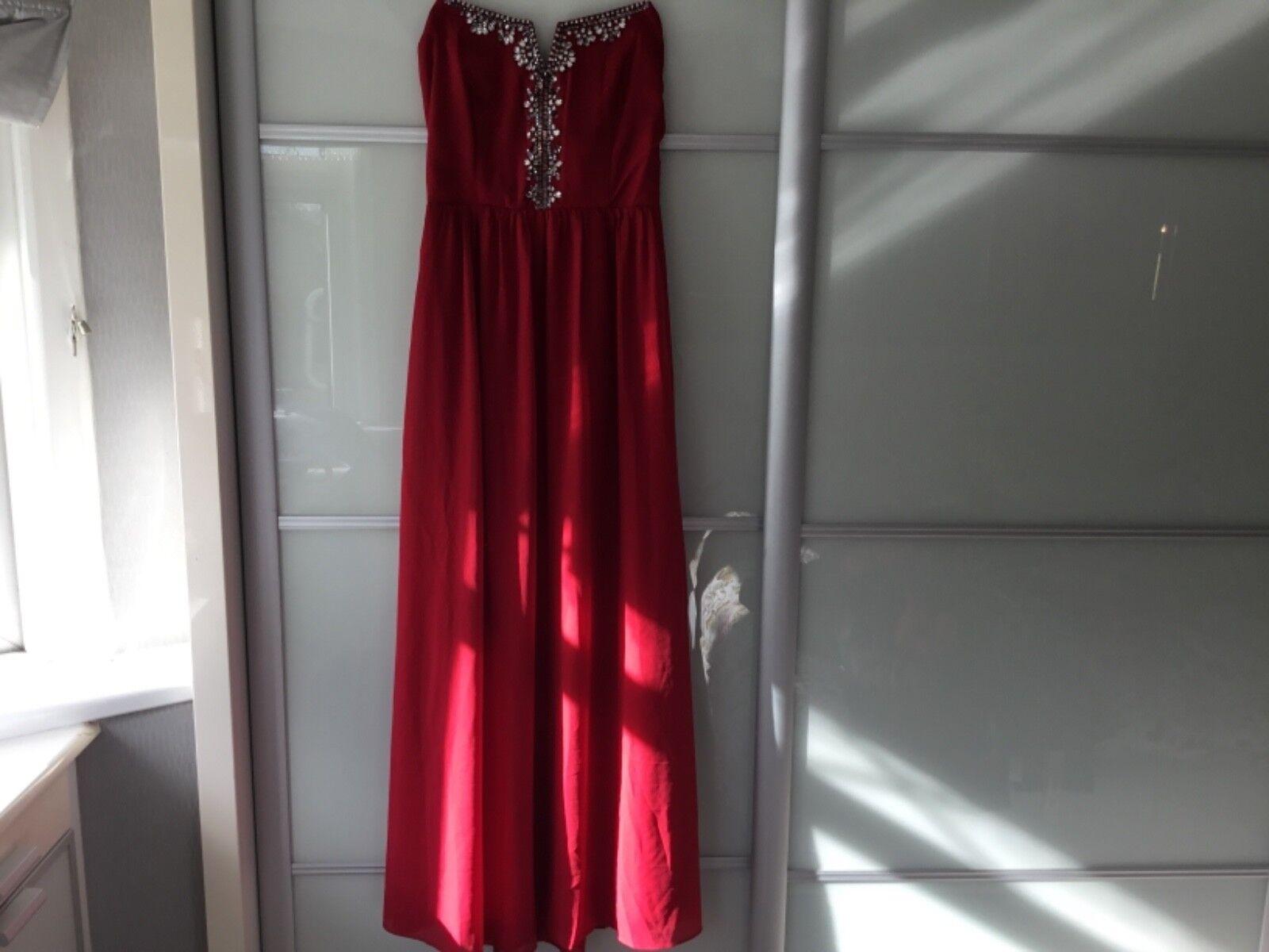 8f05a2fbf Little mistress strawberry red maxi dress 14 bnwt. Karen Millen - Sheer  Leopard ...