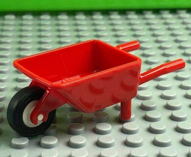 1 LEGO RED WHEELBARROW MINIFIG,UTENSIL CITY