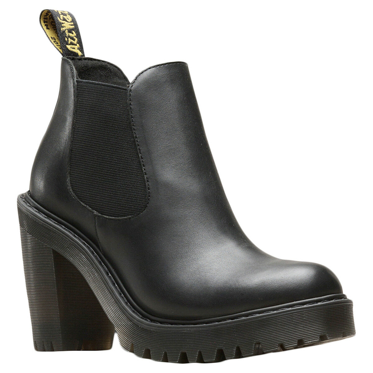 Dr. Martens Hurston sendal Leather bloque heel chelsea señora botas