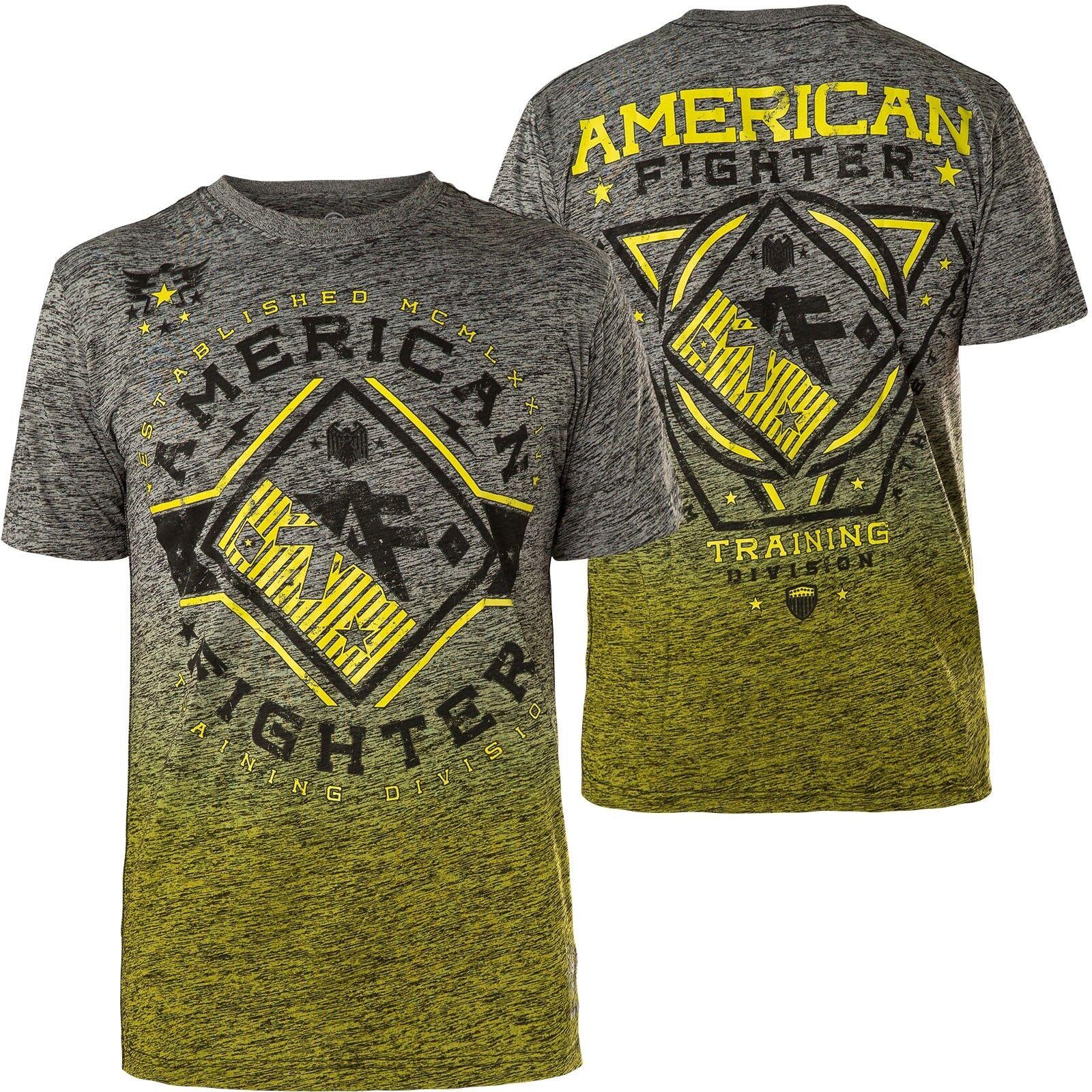 AMERICAN FIGHTER Affliction T-Shirt Ventura Grau/Gelb T-Shirts