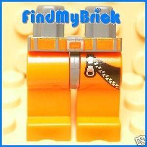 L045A-Lego-Orange-Legs-Zipper-Orange-Belt-Pattern-NEW