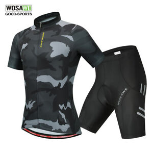 Men-039-s-Cycling-Suit-Short-Sleeve-Road-Bike-Jersey-Shorts-Set-Bicycle-Clothing