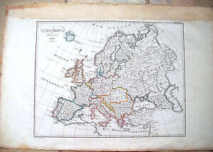 1838-CARTA-GEOGRAFICA-DELL-039-EUROPA-INCISA-A-FIRENZE