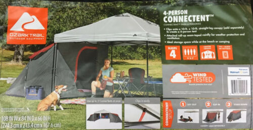 Ozark Trail 4-Person ConnecTent Straight-leg Canopy Sold Separately  4-Person