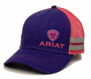 Ariat Western Womens Hat Baseball Cap Mesh Shield Logo One Size ... c23a92ac29be