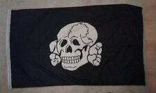 TOTENKOPF DEATH HEAD S X 5FT FLAG HEADHUNTERS BLACK SUN SCHWARZE SONNE ISD