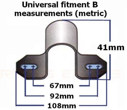 Pair 30mm ID anti roll bar uprated poly ARB antiroll bushes /& large brackets BLK