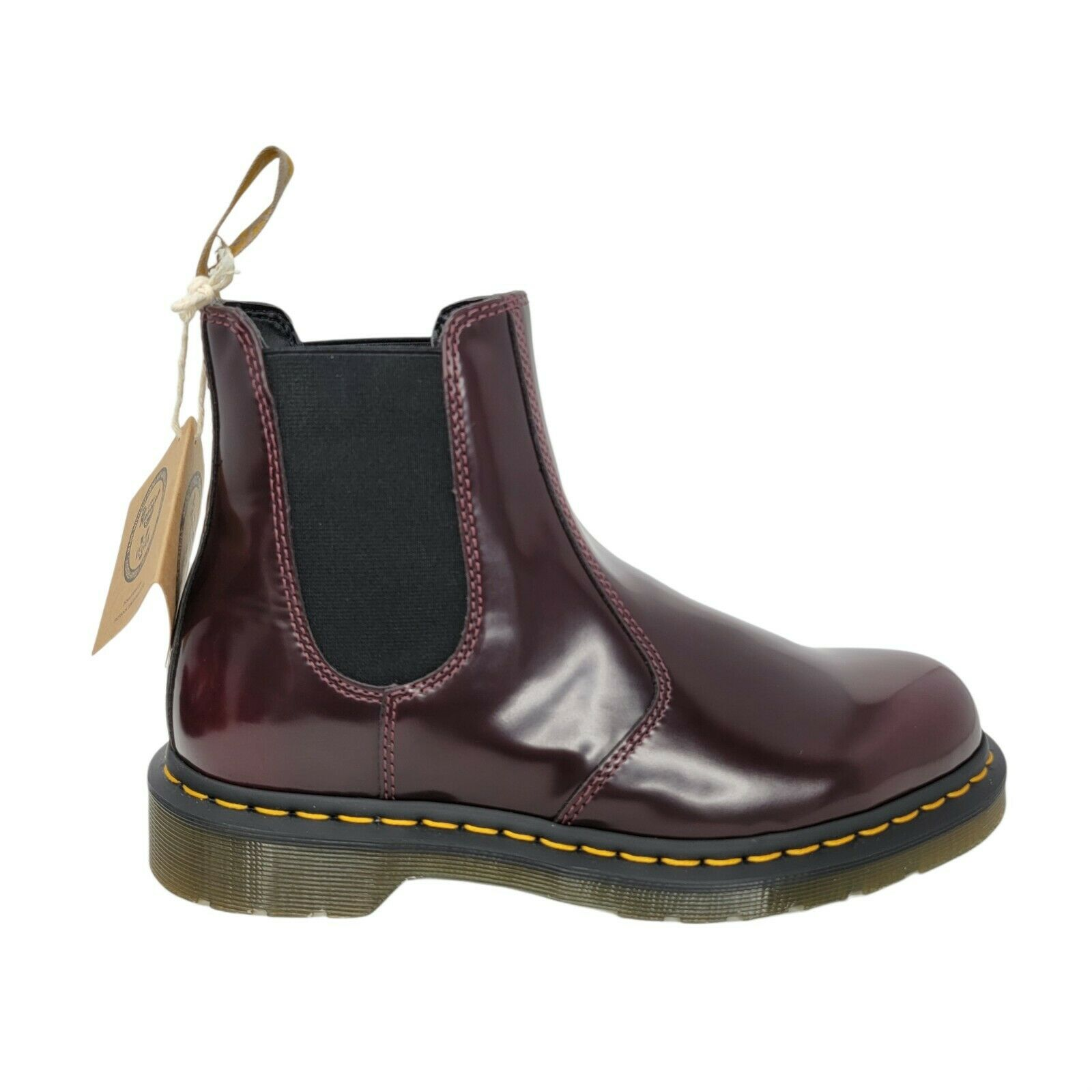 Dr. Doc Martens Vegan 2976 Chelsea Boots Cherry Red Men's Size 5 Women's 6
