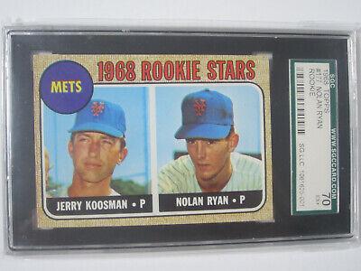 1968 Topps Nolan Ryan Jerry Koosman Rookie Card Rc 177 Sgc 7 New York Mets Ebay