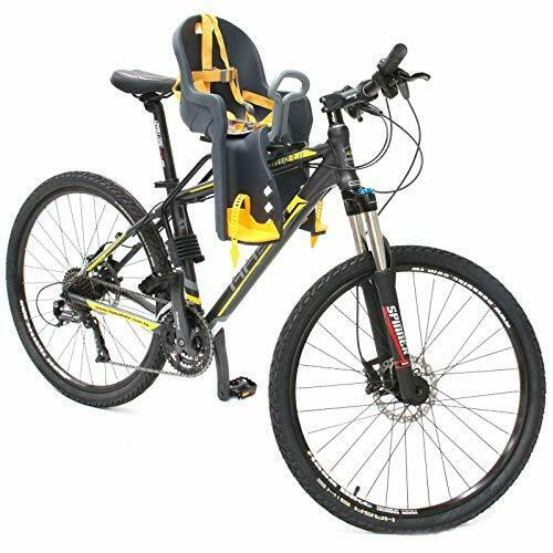Durable Front Baby Bike Carrier for Round Seat Tubes w  Handrail & 33lb Capacity