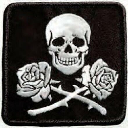 Mono Quick aplicaciones teens and jeans calavera con rosas de colores 12334